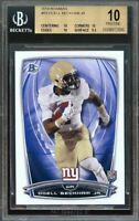 2014 bowman #r8 ODELL BECKHAM new york giants rookie card BGS (PRISTINE) 10