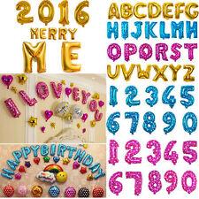 40.6cm Optional Feuille Lettres A-Z/0-9 Ballons Fête D'anniversaire