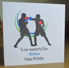 Handmade Sports Boxing Personalised Birthday Card Son Grandson Dad Brother