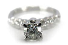 Ring Brillant ca. 0,51 ct + Brillanten 0,27 ct 750 Weißgold [BRORS 11364]