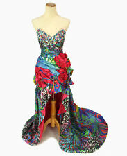 New JOVANI Genuine 4259 High-Low Beaded Gala Evening Pageant Gown Wedding 0