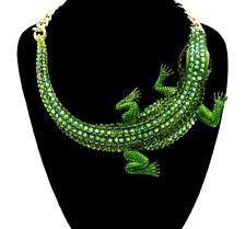 Butler Y Wilson estilo vintage collar de diamantes de imitación declaración Lagarto Cocodrilo