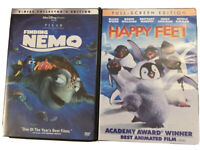 Lot Of 2 Kids DVDs: Finding Nemo And Happy Feet