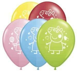 Peppa Pig Party Supplies - Peppa Pig Printed Latex Balloons 28cm - 2 for $1.50