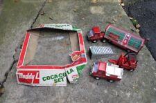 vintage 1976 BUDDY L COCA-COLA delivery truck trailer forklift SET 4973 complete