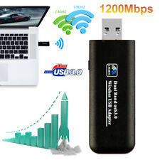 1200Mbps USB 3.0 WIFI Dongle Dual Band 2.4/5.8GHz Wireless Adapter Stick WLAN