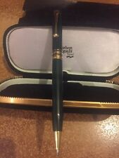 Carlson Wagonlit Travel - Green And Gold Ballpoint Pen - In Case - New