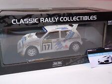 1:18 Sunstar MG METRO 6r4 #17, Rally Finland Toivonen/Sheds 1986