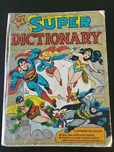 THE SUPER DICTIONARY, 1978, SUPERMAN BATMAN, HARDCOVER DC Comics, Bronze Era