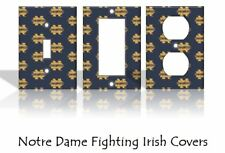 Notre Dame Fighting Irish Light Switch Covers Football NCAA Home Decor Outlet