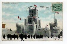 CANADA carte postale ancienne MONTREAL ice palace