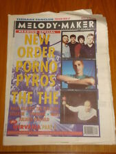 MELODY MAKER 1993 AUG 28 NEW ORDER PORNO FOR PYROS NEDS
