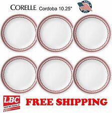 Corelle cordoba red 6PC dinner plate set 10.25inch NOT pyrex corningware