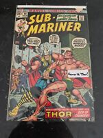 Sub-Mariner #59 (Mar 1973, Marvel) 1st Thor Battle