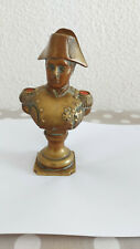 Buste en bronze de Napoléon bon état volets rouge sur les épaules