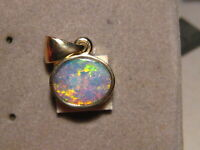 Opal Pendant     solid 14 k Yellow  Gold   Bright Orange and Yellow