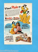 TOP989-PUBBLICITA'/ADVERTISING-1989- FERRERO - KINDER CEREALI VINCI PLUTO