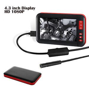 "4.3"" 1080P HD F200 Inspection Borescope Monitor Endoscope Camera Pipe Waterproof"
