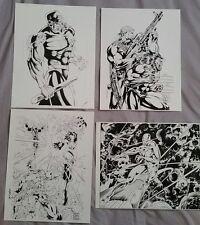 Art Prints signed by Bud Larosa Wolverine Punisher Silver Surfer Xmen DareDevil