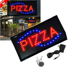 Pizza Animated Motion Led Business Sign Open w/ On/Off Neon Light Bs