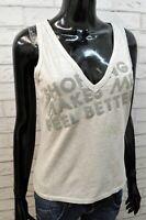 Dolce&Gabbana Blusa da Donna Taglia 44 Maglia Canotta Cotone Grigio Shirt Woman