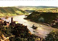 Burg Gutenfels und die Pfalz bei Kaub am Rhein , Ansichtskarte , 1966 gelaufen
