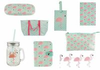 Flamingo Wash Bag Glasses Case Notebook Bag Passport Holder Bag Tag Sass n Belle