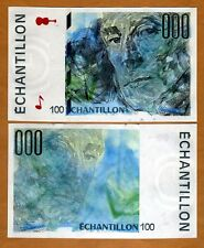 France, French Test Note, Echantillon, 100, Ravel, aUNC