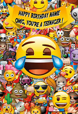 'YOU'RE A TEENAGER!' EMOJI Personalised Birthday Card! ANY NAME / COOL CARD!! 2