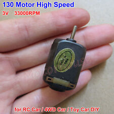 DC 1.5V 3V 33000RPM High Speed Black Micro 130 DC Motor DIY Toy RC Car 4WD Car