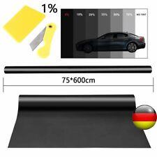 Auto Scheiben Tönungsfolie 76x600cm Black Plus 1 % ink Papiere & Montageset