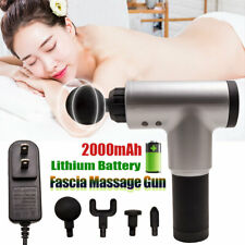 4 Heads Massage Gun Percussion Massager Muscle Relaxing Therapy Deep Tissue