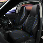 FOR TOYOTA AYGO - PREMIUM BLUE QUILTED PU LEATHER CAR SEAT COVERS 1+1