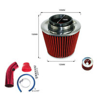 "Car Truck Aluminum Alloy Air Intake Kit 3"" Pipe +Cold Air Intake Filter+ Clamp"