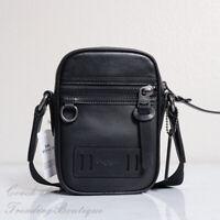 NWT Coach F72963 Men's Terrain Leather Crossbody Bag Black MSRP $250