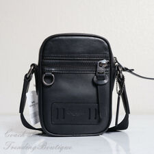 NWT Coach F72963 Men's Terrain Leather Crossbody Bag in Black