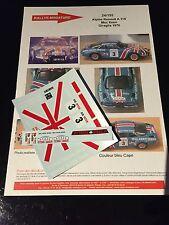 DECALS 1/24 ALPINE RENAULT A110 PANCIATICI RALLYE GIRAGLIA 1976 WRC RALLY BURAGO