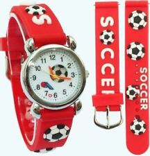 Children's, Kids, Boys Man Utd. 3D Football, Soccer Design, Sports Watch