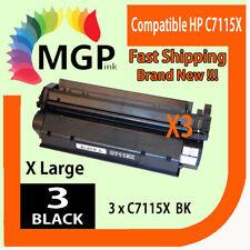 3x C7115X 15X Toner Cartridge For HP Laserjet 1000 1200 1220 3300 3330 1005