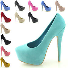 Party Faux Suede Court Shoes for Women