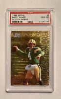 BRETT FAVRE 1996 Fleer Metal, Gold Flingers PSA 10 Gem Mint Green Bay Packers