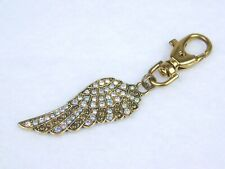 Kirks Folly Fly Home Angel Wing Charmer Key Ring BT & Paradise Shine Crystals