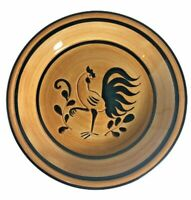 "Vintage Pennsbury Pottery Black Rooster Mini Pie Plate 8 3/4"" Farmhouse 1950-70"