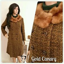 Women's 1960s Wool Blend Basic Vintage Coats & Jackets