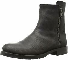 New Frye Natalie Double US 9 EU 40 Charcoal Short Leather Motorcycle Womens Boot