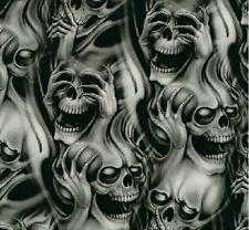 Wassertransferdruck Folie Skulls Geister Köpfe 100cm breit