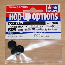Tamiya 54727 Oil Seal (4 Pcs.) for TRF Super Short Big Bore Damper, TRF419/Evo 7
