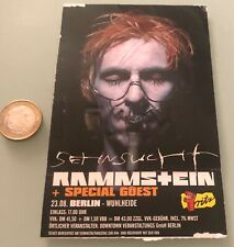 Concert Ticket RAMMSTEIN SEHNSUCHT BERLIN 23.08 VERY RARE!