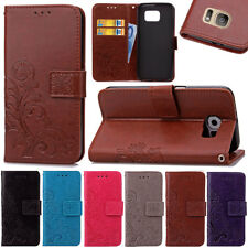 For Samsung Galaxy Luxury Magnetic Card Wallet Clover Stand Leather Case Skin