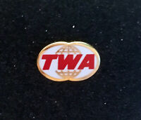 Pin TWA TRANS WORLD AIRLINES logo Pin gold back size: 20mm wide / 0.78inches